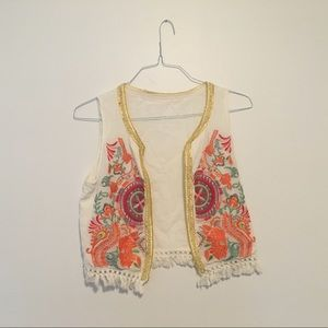 Embroidered women's vest